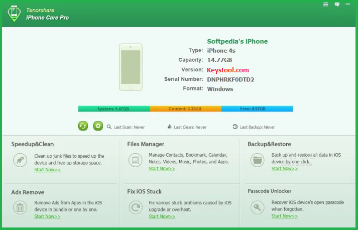 Tenorshare iCareFone Key