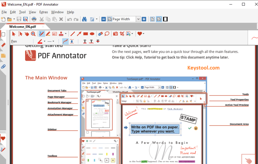 PDF Annotator Key